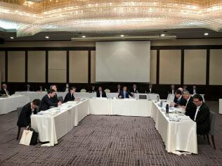 防災をテーマに討議した近畿ブロック知事会議(25日、滋賀県高島市)