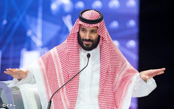 24日、リヤドでの国際投資会議に出席したムハンマド皇太子。記者殺害への自身の責任には触れなかった=ロイター