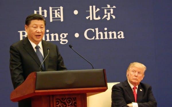 2017年11月の米中首脳会談(北京)