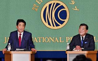 9月の自民党総裁選ではアベノミクスの成果について安倍首相と石破氏の意見が対立した