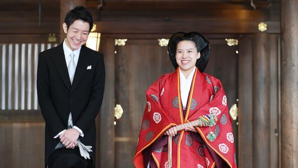 絢子さま・守谷さん 明治神宮で結婚式