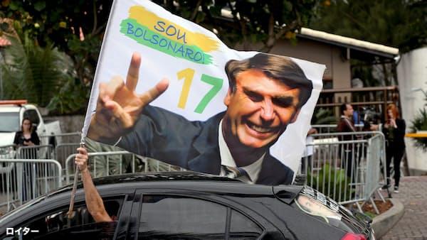 ブラジル通貨、ボルソナロ氏勝利も下落