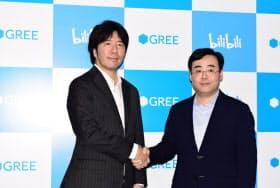 グリーはビリビリと組み、ゲームやVチューバー事業を中国で展開する(30日午後、東京・港)