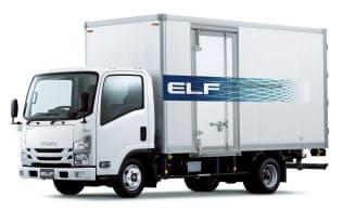 いすゞ自動車が29日発売した新型の小型トラック「エルフ」。車両からデータを集めて最適な保守サービスにつなげる