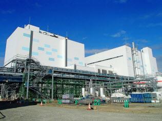 北海道電力が建設中の石狩湾新港発電所(小樽市)