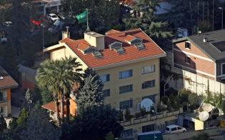 トルコ・イスタンブールのサウジ領事館(10月10日撮影)=ロイター