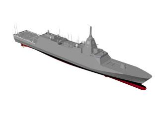 三菱重工業が防衛省から受注した3900トン型護衛艦の完成予想図