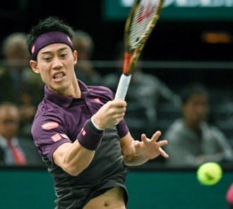ATPツアー・ファイナルへの出場が決まった錦織圭=共同