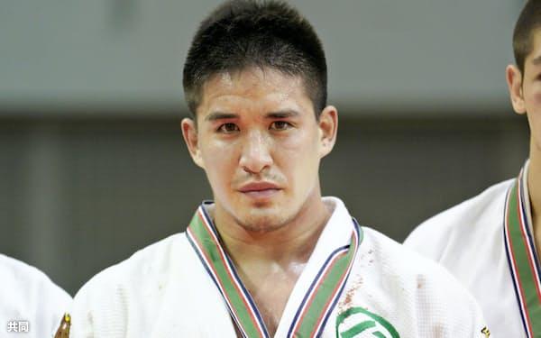 男子90キロ級で初優勝したベイカー茉秋(4日、千葉ポートアリーナ)=共同