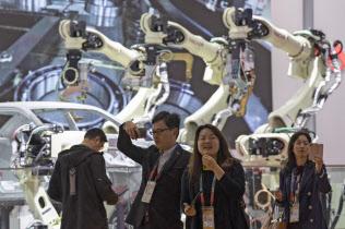 5日に開幕した中国の輸入博覧会(上海)=AP