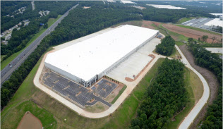 米国の開発事業が寄与する(ジョージア州アトランタの物流施設)