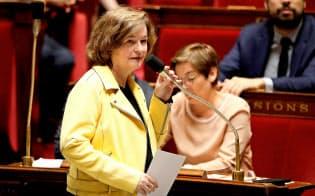 6月、仏議会に出席したロワゾー欧州問題担当相=ロイター