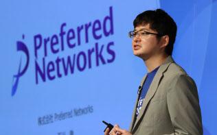 講演するプリファード・ネットワークスの西川徹社長兼CEO(7日午後、東京都千代田区)