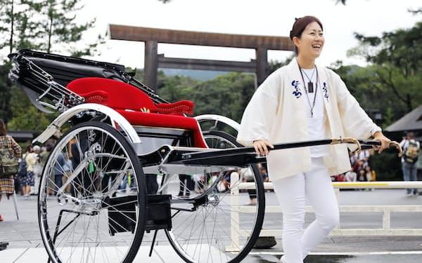 人力車にじいろ代表の北原美希さん(36)