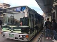 運行の一部を民間委託している京都市バス