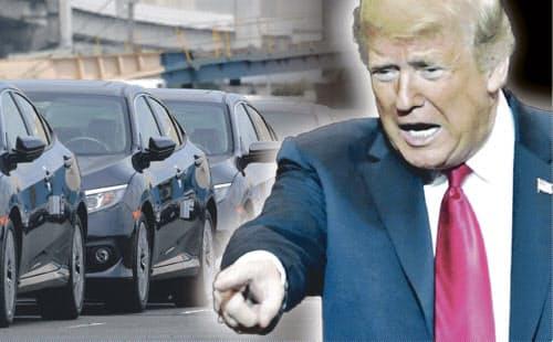 トランプ米大統領は自動車に高関税を課すことを検討していると表明した(コラージュ、写真は一部AP)