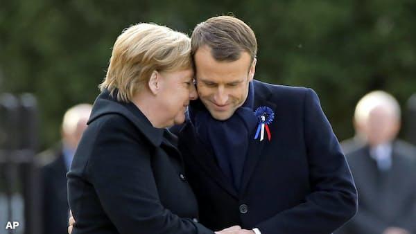独仏首脳、因縁の地で統合の誓い 第1次大戦終戦100年