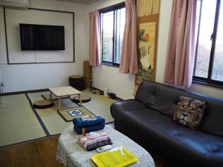 特区民泊第1号の施設は、訪日外国人に日本文化を感じてもらえるよう工夫する(千葉市)