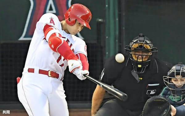 大谷は9月15日、日本勢では松井秀喜以来2人目のシーズン20号本塁打に到達した=共同