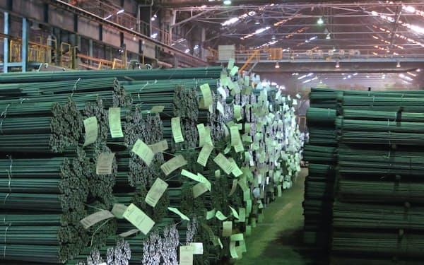 鉄筋用棒鋼などの製品価格に波及する可能性もある