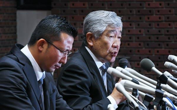 日大アメフト部の井上元コーチ(左)と内田元監督は日大を懲戒解雇された。