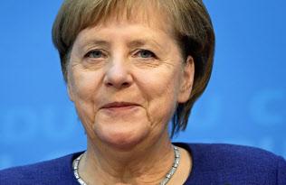 欧州軍に前向きな姿勢を示したメルケル独首相=AP