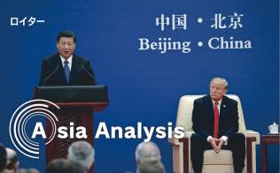 中国による米国産LNGの輸入拡大は、貿易不均衡改善の切り札と期待されたが……(2017年11月、?#26412;─扦?#31859;中首脳会談)=ロイター