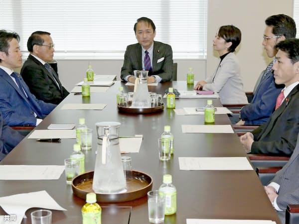 衆院法務委の理事懇談会(14日午後)=共同
