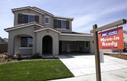 米住宅の景況感はやや改善か(カリフォルニア州)=AP