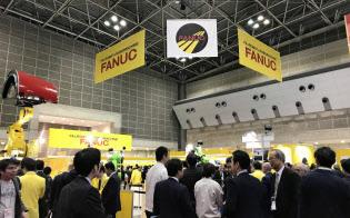 中国はファナック売上高の約2割を占める(11月上旬に東京都内で開かれた見本市)