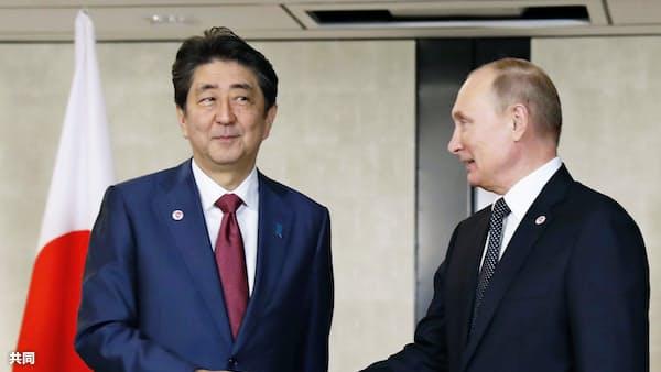 首相「日ソ56年宣言を基礎に交渉で合意」 日ロ首脳会談