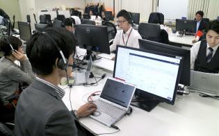 ビズリーチの電話営業部隊ではRevCommの解析ソフトで成約件数が6割向上した(東京・渋谷)