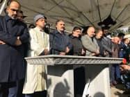 16日、遺体が不明のまま行われたカショギ氏の葬儀(イスタンブール)