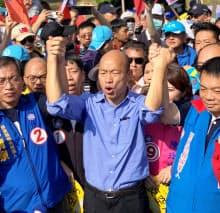 野党・国民党の高雄市長候補、韓国瑜氏の人気は社会現象に(11日、台湾南部の高雄市内)