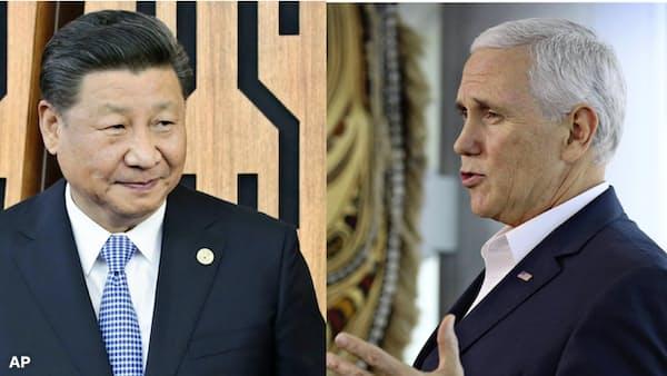 「悪役」ペンス氏、中国に圧力 トランプ氏と役割分担