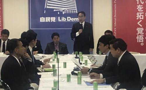 自民党の経済成長戦略本部は消費税増税対策をまとめた(20日、党本部)