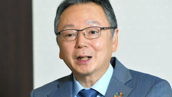 池田社長、「高いシェア生かし営業強化」