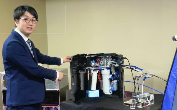 AIが水の汚れ具合を検知し、フィルターを通すかを判断する