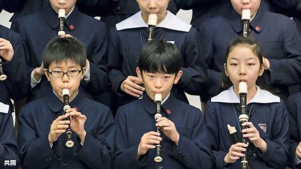 悠仁さまが歌と演奏を披露 小学校で最後の音楽会