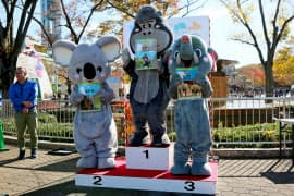 東山動植物園で人気投票の結果が発表され、ゴリラが首位に輝いた(23日午前、名古屋市千種区)