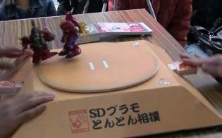 新宿西口本店などでガンダムのプラモデルを使ったイベントを開催している