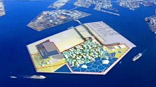 会場イメージ(大阪市の人工島・夢洲(ゆめしま)」=経済産業省提供