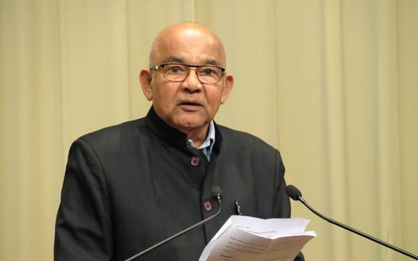 26日、都内で講演するインド準備銀行元総裁のレディ氏