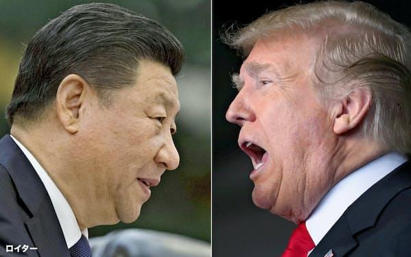米トランプ大統領(右)と中国の習近平(シー・ジンピン)国家主席=ロイター