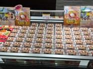 日本産のたまごは香港やシンガポールで人気だ(シンガポールのスーパーで販売する三栄鶏卵=愛知県岡崎市=の商品)