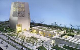 オバマ・センターの完成モデル(写真はオバマ財団提供)