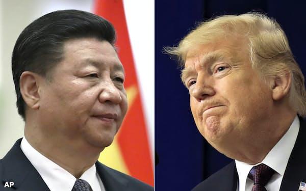 習近平主席(左)とトランプ大統領=AP