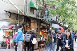 アジアからの訪問客でにぎわう台湾の観光地(台南市)