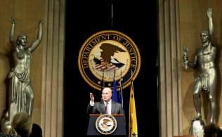 トランプ米大統領政権下で、反トラスト(独占禁止)法による刑事訴追はニクソン政権以来の低水準に落ち込んでいる=ロイター
