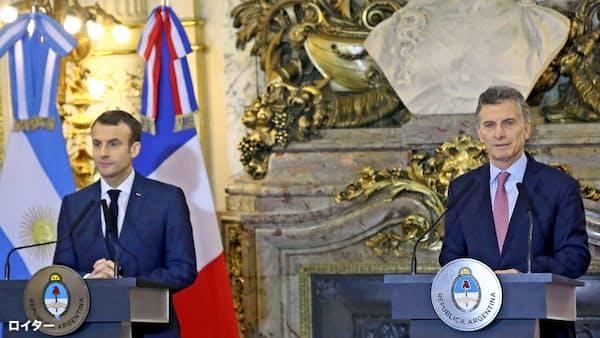 アルゼンチン大統領「サウジ問題、G20で議論を」